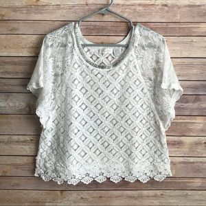 Miss Me White Lace Top Sz Large